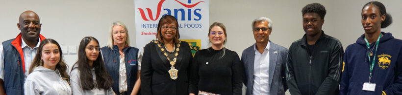 Welcoming the Mayor of Waltham Forest to Wanis International Foods